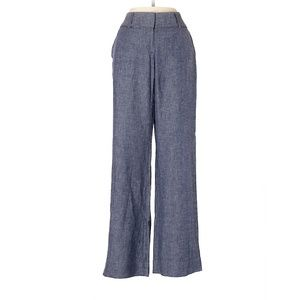 Ann Taylor Loft Blue Linen Career Pants
